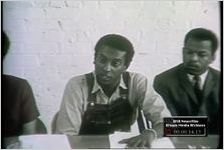 """Series of WSB-TV newsfilm clips of members of the Student Nonviolent Coordinating Committee (SNCC) discussing the """"Black Power"""" philosophy, Atlanta, Georgia, 1966 May 23"""