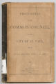 Proceedings of the Common Council of the City of St. Paul for the Year Ending April 9th, 1867