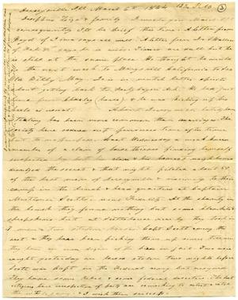 Letter from Charles Moore to Josephus Moore and family, March 6, 1864 Charles B. Moore Family papers, 1832-1917