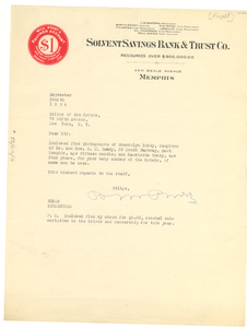 Letter from Bert M. Roddy to Editor of the Crisis