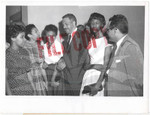 Thurgood Marshall with Central High Students