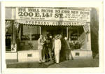 Group of men standing in front of Stephens' Restaurant & Lunch Room