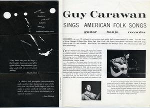 Guy Carawan sings American folk songs: guitar, banjo, recorder