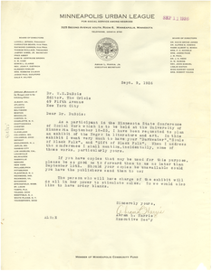 Letter from Abram L. Harris, Jr. to W. E. B. Du Bois