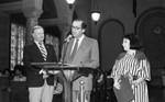 Jorge Carpio Nicolle at a City Hall event, Los Angeles, 1985