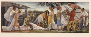 Cotton Pickers (mural study, Wynne, Arkansas Post Office)