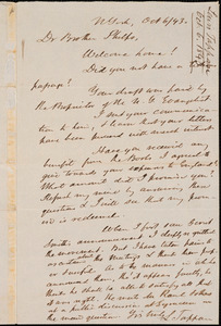 Letter from Lewis Tappan, N York, to Amos Augustus Phelps, 1843 October 6