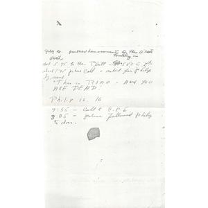 Handwritten harassment report.