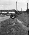 Ku Klux Klan sign at the city limits of Bessemer, Alabama.