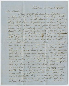Letter from P. M. Osterhout to John Patterson Osterhout, March 18, 1857