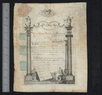 Certificate of initiation : manuscript, 1799 June 23, Recto