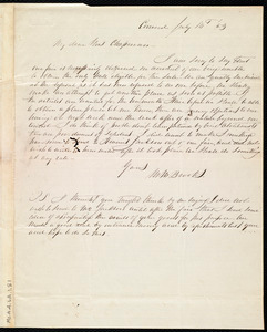 Letter from Mary Merrick Brooks, Concord, [Mass.], to Maria Weston Chapman, July 14th, [18]43