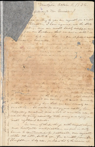 Letter from Orson S. Murray, Montpelier, [Vt.], to William Lloyd Garrison, October 11. 1834
