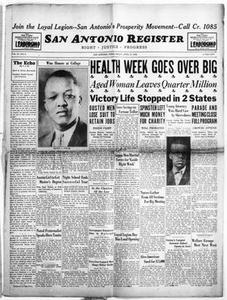 San Antonio Register (San Antonio, Tex.), Vol. 2, No. 2, Ed. 1 Friday, April 15, 1932 San Antonio Register
