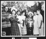 Group of African Americans holding musical instruments, Los Angeles, ca. 1951-1960