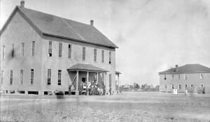 Johnston County Training School and dormitory