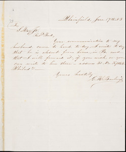 Letter from Gertrude K. Burleigh, Plainfield, [Connecticut], to Samuel May, [18]53 June 17th