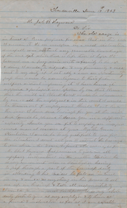 195. A.M. Jones to James B. Heyward -- June 10, 1863
