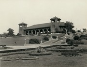 World's Fair Pavilion, Forest Park, with steps to right.