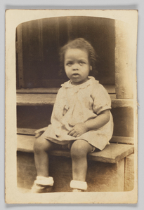 Photographic print of a young girl