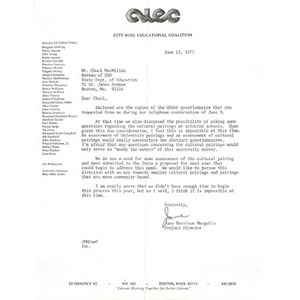 Letter, Chuck MacMillan, July 13, 1977.