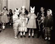 Children at a Halloween party (possibly at the Annie Malone home).