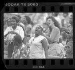 Crowd at Mahalia Jackson Gospel Music Festival in Los Angeles, Calif., 1986