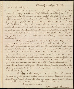 Letter from William Lloyd Garrison, Brooklyn, [Conn.], to George William Benson, Aug. 18, 1836