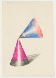 Study for a Motif with Two Cones