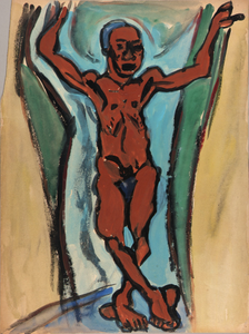 Standing Male Nude with Arms Raised