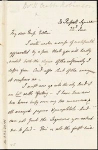 Letter from Henry Crabb Robinson, London, [England], to Mary Anne Estlin, [1853?] June 22