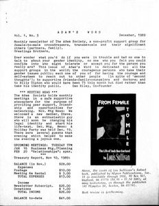 Adam's Word, Vol. 1 No. 5 (December, 1989)