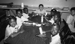 Challengers Boys and Girls Club crafts session, Los Angeles, 1986