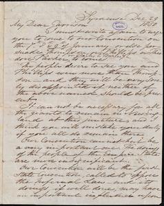 Letter from Samuel Joseph May, Syracuse, [N.Y.], to William Lloyd Garrison, Dec[ember] 29 1850