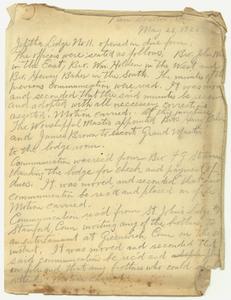 Minutes of Jephtha Lodge, No. 11, 1923 May 23