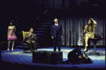 """Actors (L-R) Anne Bobby, Brian Murray, Keene Curtis and Kate Mulgrew in a scene from the Roundabout Theater Co.'s production of the play """"Black Comedy """" (New York)"""