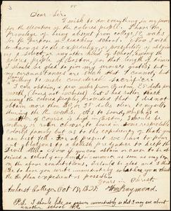 Letter from William Raymond, Amherst College, [Amherst, Massachusetts], to William Lloyd Garrison, 1835 Oct[ober] 15