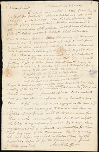 Letter from Arnold Buffum, Andover, [Massachusetts], to William Lloyd Garrison and Isaac Knapp