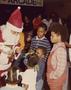 Santa Claus distributing gifts to children