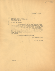 Letter from W. E. B. Du Bois to Anson Phelps Stokes