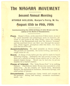 Announcement of Niagara Movement Second Annual Meeting