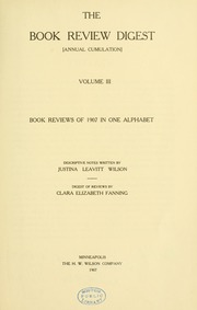 Book review digest, 1907 v.3