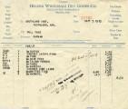 Helena Wholesale Dry Goods Co. Invoice, September 5, 1923