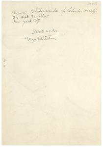 Address of Swami Bhodananda