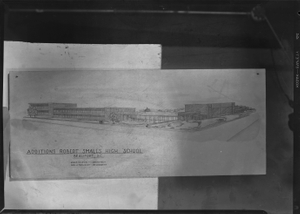 Architectural drawing of additions for Robert Smalls High School; Jules D. Levin, Architect; Geo. J Madlinger, Delineator