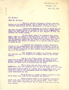 Letter from Joseph E. Webly to W. E. B. Du Bois