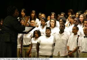Conductor directing the choir