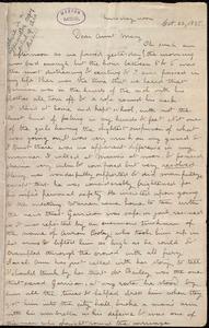 Letter from Deborah Weston, [Boston, Mass.], to Mary Weston, Thursday noon, [Oct. 22, 1835]
