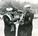 Thumbnail for African American sailor with members of the French navy during World War II