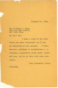 Letter from W. E. B. Du Bois to William C. Amos